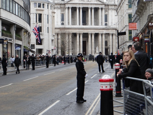 some hours before the funeral at St. Paul's