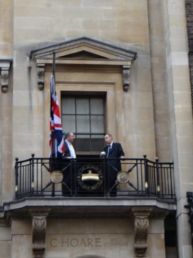 Balcony seats in Fleet Street