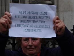 Thatcher Funeral, reported in taz, die Tageszeitung (c) Daniel Zylbersztajn