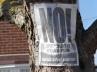 "Kampagnenflugblatt gegen neue Siedlungen im ""Greenbelt"", Benfleet"