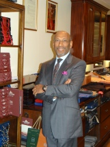 Prof. Andrew Ramroop, O.B.E. owner and tailor of Maurice Sedwell and principal of Savile Row Academy