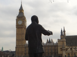 Nelson Mandela the only African on most tours of London. (All rights Reserved Daniel Zylbersztajn)