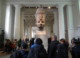 Pharaonenkopf im Britischen Museum (All rights Reserved Daniel Zylbersztajn)