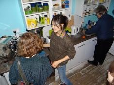 Erklaerung der Kaffeemaschine in der Kueche