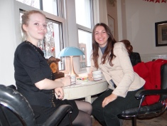 "Katherina and Maria in London Ziferblat ""It makes us proud to be Russian"" (c) Daniel Zylbersztajn"