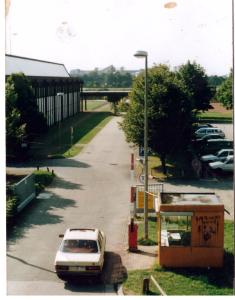 Vergesst nicht 5.9.72!  ZHS Anlage Einfahrt Connollystrasse München, c.a. 1984