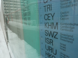 Plan der olympischen Haueser und wo die einzelnen Nationalteams untergebracht waren  Sicht auf Israel
