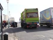 Ein Streik der Müllabfuhr brachte große Konflikte in die Stadt und ist heute das Argument das die Grünen eine Stadt nicht regieren können. Die Grünen sagen es waren alte Probleme welche die anderen Parteien nicht lösen wollten, als sie dazu die Möglichkeit hatten. (c) Daniel Zylbersztajn All Rights Reserved