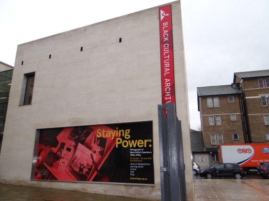01 Staying Power Anzeige am Black Cultiral Archives in Brixton (c) Daniel Zylbersztajn