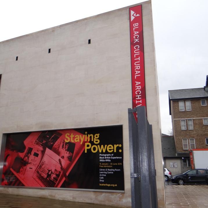 01 Staying Power Anzeige am Black Cultiral Archives in Brixton (c) Daniel Zylbersztajn