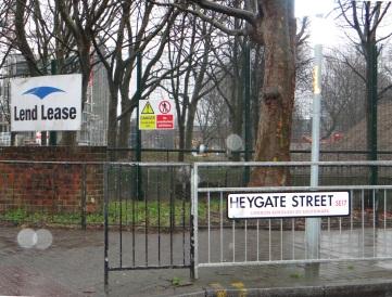 Heygate Lend Lease Baustelle