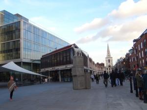 Spitalfield Market mit Norman Foster Verputz
