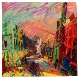 Frank Auerbach: Mornington Crescent, Early Morning, (c) Tate, with kind permission. ALL RIGHTS RESERVED