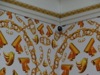 Ai Weiwei, Golden Age (2014) + Royal Acadam of Arts Surveilance Camera in London Ai Weiwei exhibition (c) Daniel Zylbersztajn