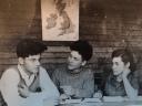 Martin Lubowski links und Frank Auerach mitte mit Kollegin (r)