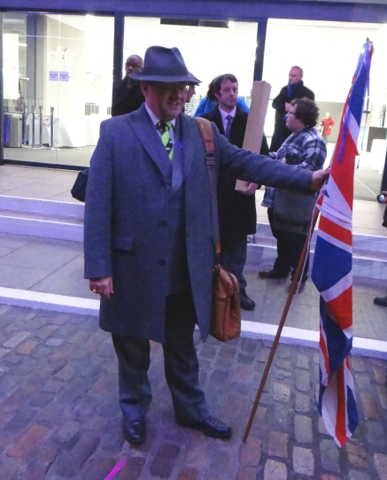 Brexit Supporter at Grassroots Out Event (c) Daniel Zylbersztajn