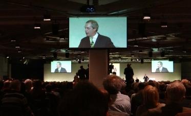 Nigel Farage at Brexit event of Grassroots Out! (c) Daniel Zylbersztajn 2016
