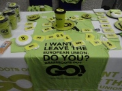 Grassroots Out Gear at Event in London (c) 2016 Daniel Zylbersztajn