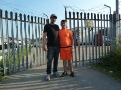 Dean Ryan und Sohn Dino wolen Brexit, denn die Franzosen fangen Jungfische in unseren Gewaessern