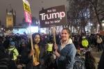 Pszchology Students / Studenten Lucille Chetty, 20 / Nicole Jennings, 20 @ Stop Trump Demonstration (c) Daniel Zylbersztajn