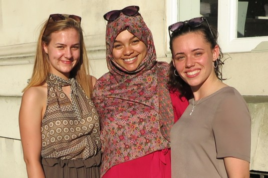 This is my favourite image. Three inseperable friends. The two non Muslim girls had just treated their friend for Ramadam (C) ALL RIGHTS ARE RESERVED