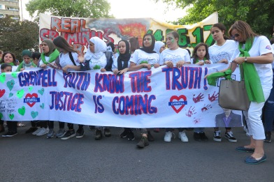 Grenfell Justice is coming Banner Silent Walk 14.06.2018 IMG_0395