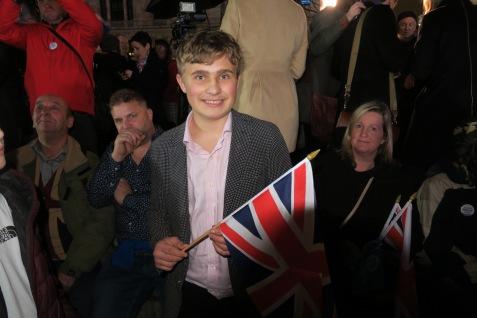 Matt Stevens, 16 kam extra aus Winchester , mit seiner FamilieIMG_5350